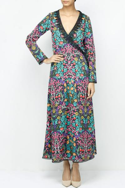 Dresses, Clothing, Carma, Multicolor printed wrap dress ,  ,