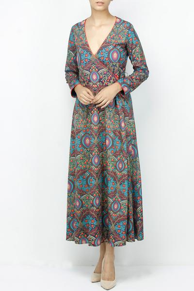 Dresses, Clothing, Carma, Multicolor angrakha wrap dress ,  ,