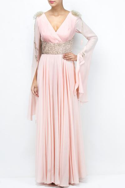 Gowns, Clothing, Carma, Shell pink embellished gown ,  ,  ,