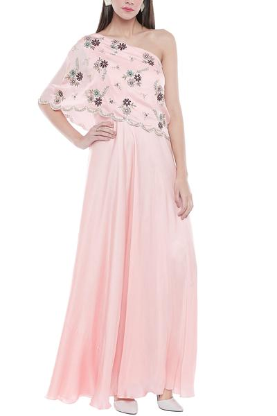 Gowns, Clothing, Carma, Powder pink embroidered gown ,  ,