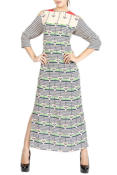 Dresses, Clothing, Carma, Multicolor printed maxi dress ,  ,