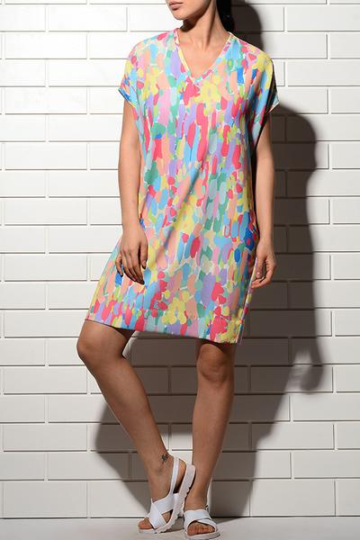 Dresses, Clothing, Carma, Multicoloured printed tunic dress ,  ,