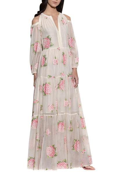 Dresses, Clothing, Carma, Ecru Embroidered Maxi Dress ,  ,  ,