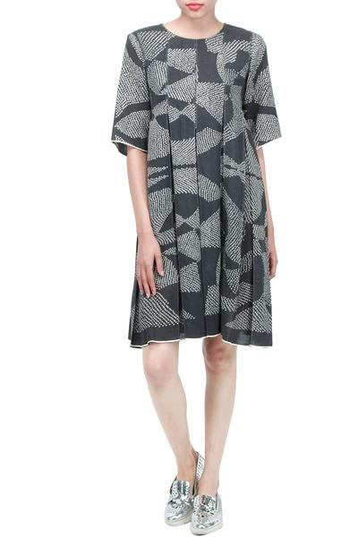 Dresses, Clothing, Carma, Black Shibori Print Dress ,  ,  ,