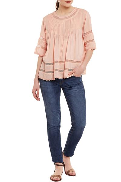 Tops & Tunics, Clothing, Carma, Peach Pin Tuck Flare Top ,  ,  ,