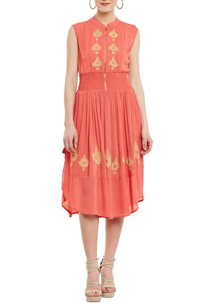 Dresses, Clothing, Carma, Coral Thread Work Short Dress ,  ,  ,