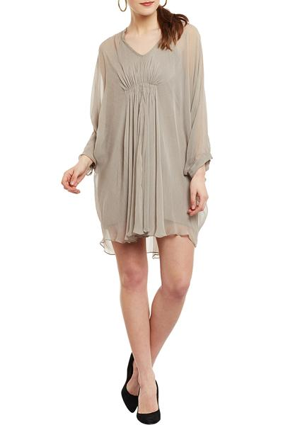 Dresses, Clothing, Carma, Grey Plated Short Dress ,  ,  ,