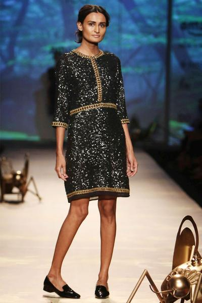 Dresses, Clothing, Carma, Black fully sequined pencil dress ,