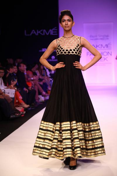Embroidered Black Anarkali