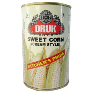 Canned Food, Branded Foods, Druk, Druk Sweet Corn (Cream Style)
