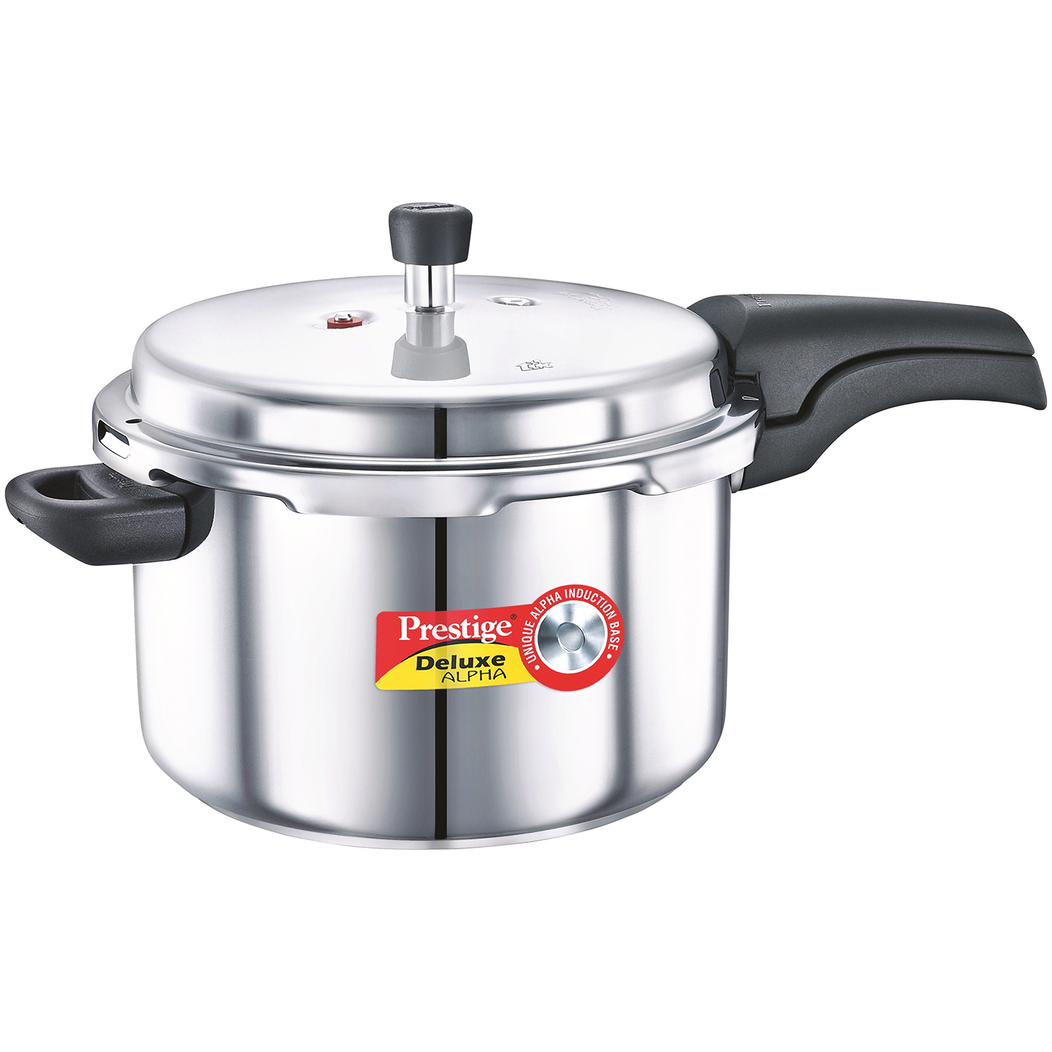 d93e10dbe Prestige Deluxe Alpha 5.5 L Pressure Cooker with Induction Bottom Stainless  Steel