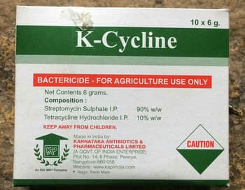 Bactericides, Crop Protection, Agro Chemicals, Karnataka Antibiotics and Pharmaceuticals Ltd, Karnataka Antibiotics Ltd Bactericide K-Cycline