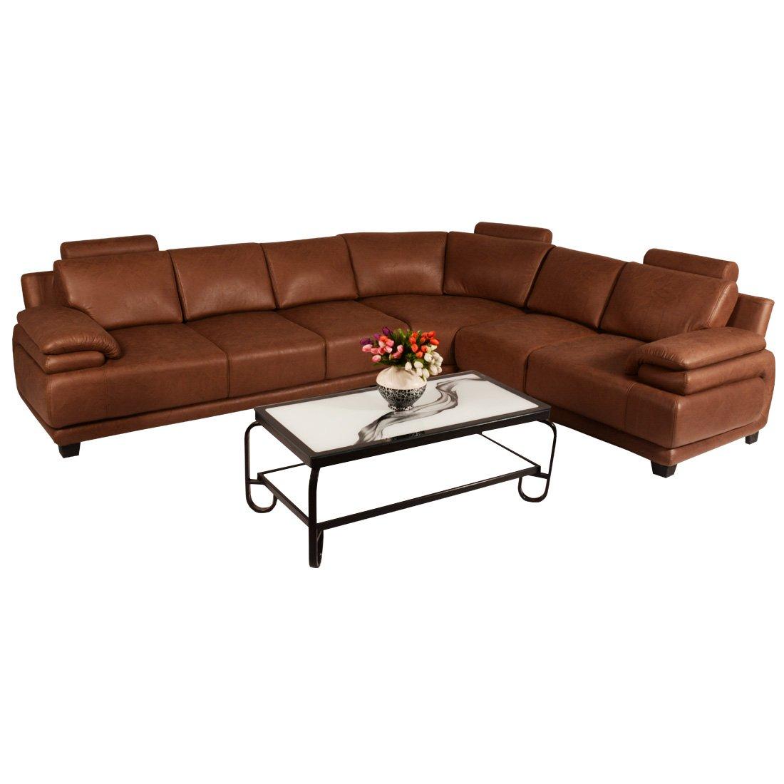 Superb Bharat Lifestyle Amaze Leatherette 6 Seater Finish Color Brown Machost Co Dining Chair Design Ideas Machostcouk