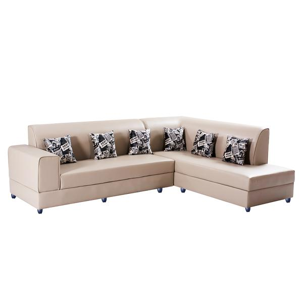 Bharat Lifestyle Aston Leatherette 6 Seater (Finish Color - Cream)