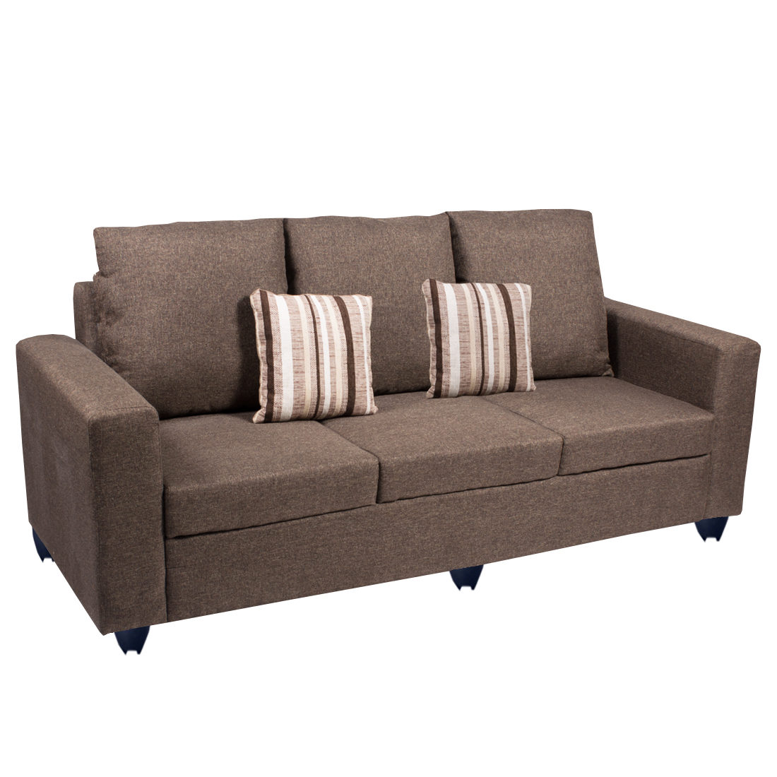Bharat Lifestyle Corsa Fabric 3 Seater Sofa Color Dark Brown Online Price In India Life