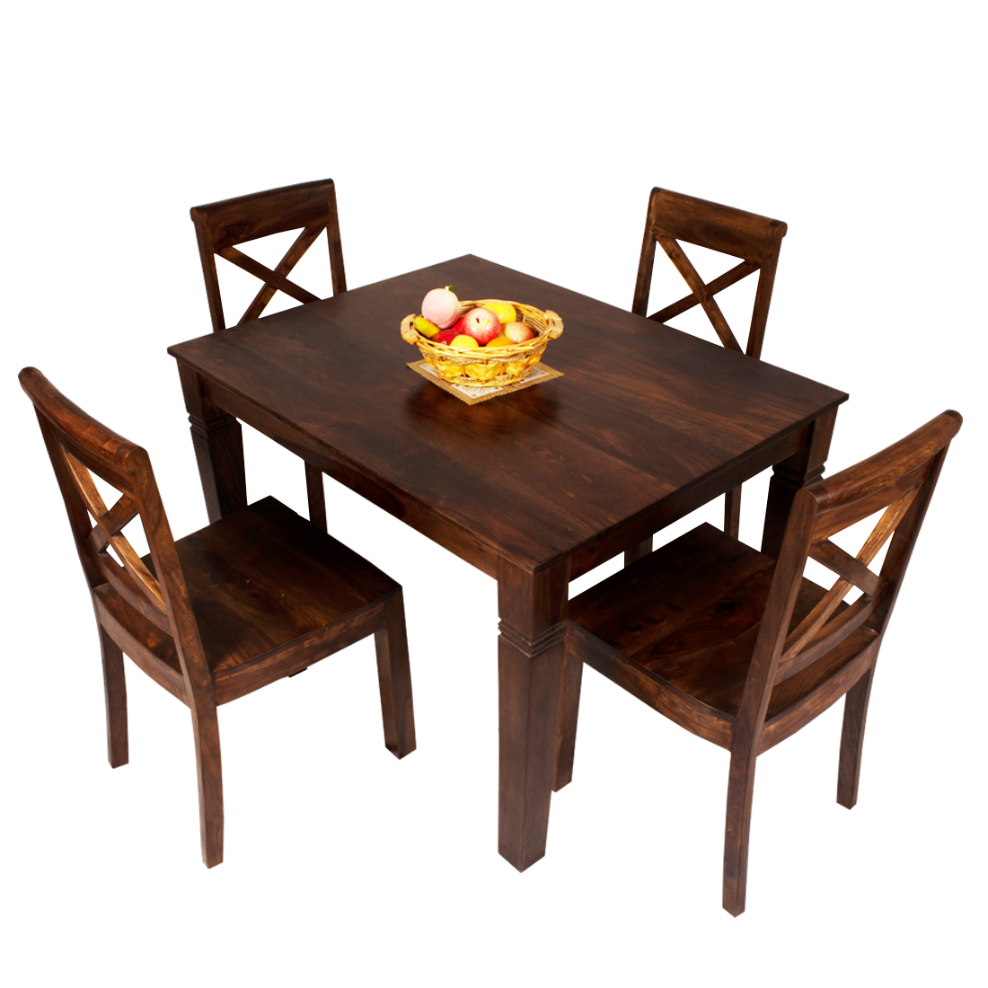 Bharat Lifestyle Richie Wooden 4 Seater Dining Set 1 4