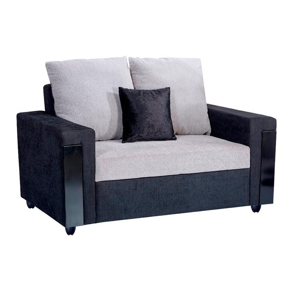 Bharat Lifestyle Ocea Fabric 2 Seater (Finish Color - Black Grey)