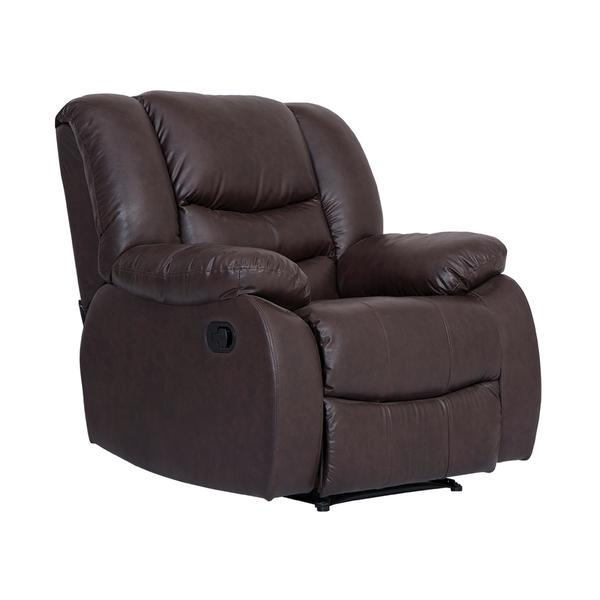 Bharat Lifestyle Leatherette Single Seater Recliner (Brown)