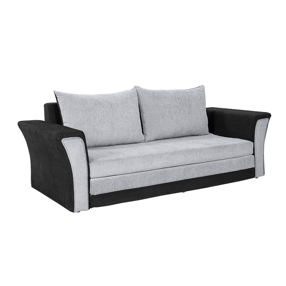 Bharat Lifestyle Leo Fabric Sofa Bed Black Grey Online Price In India