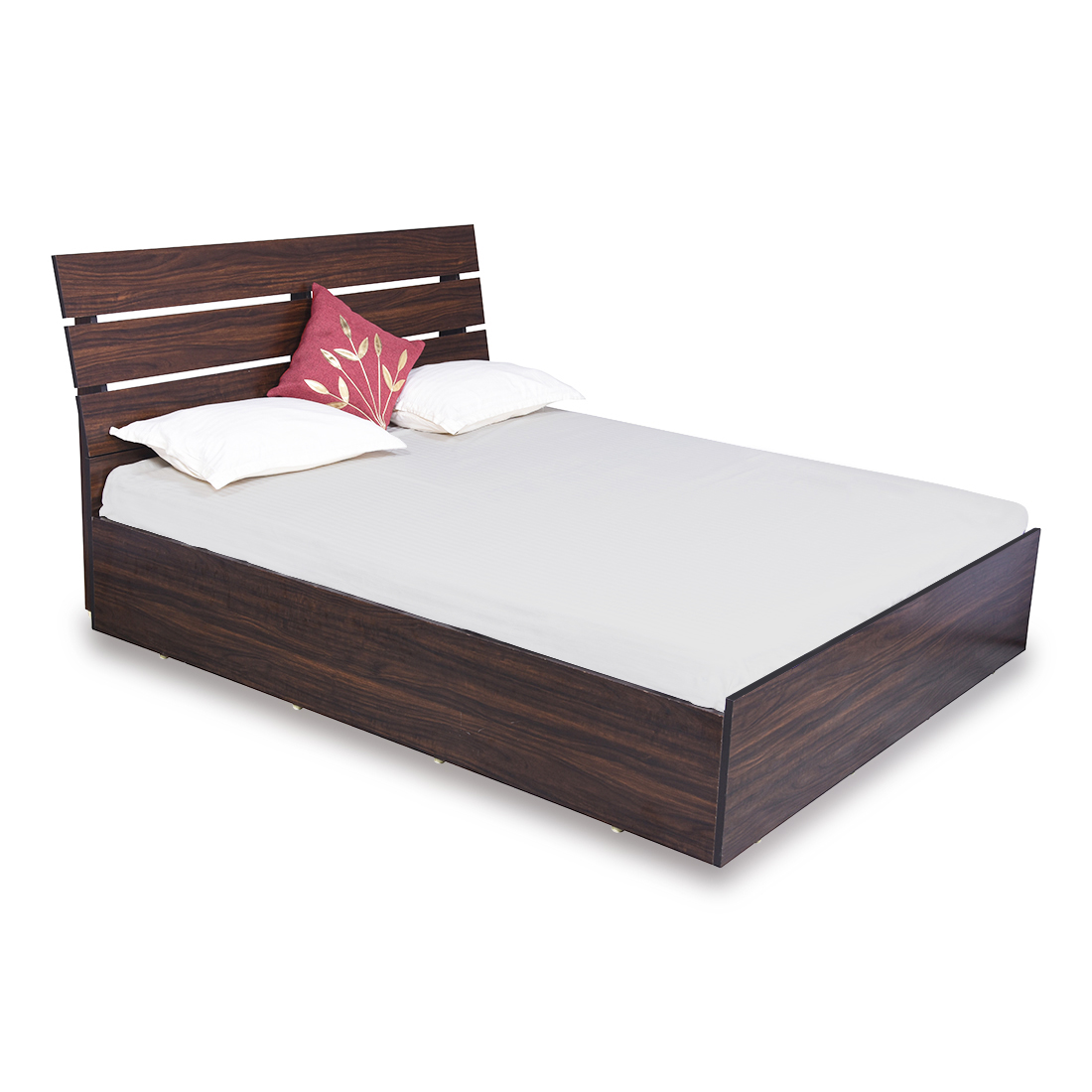 Queen Size Bed.Bharat Lifestyle Havana Engineered Wood Queen Size Bed With Storage