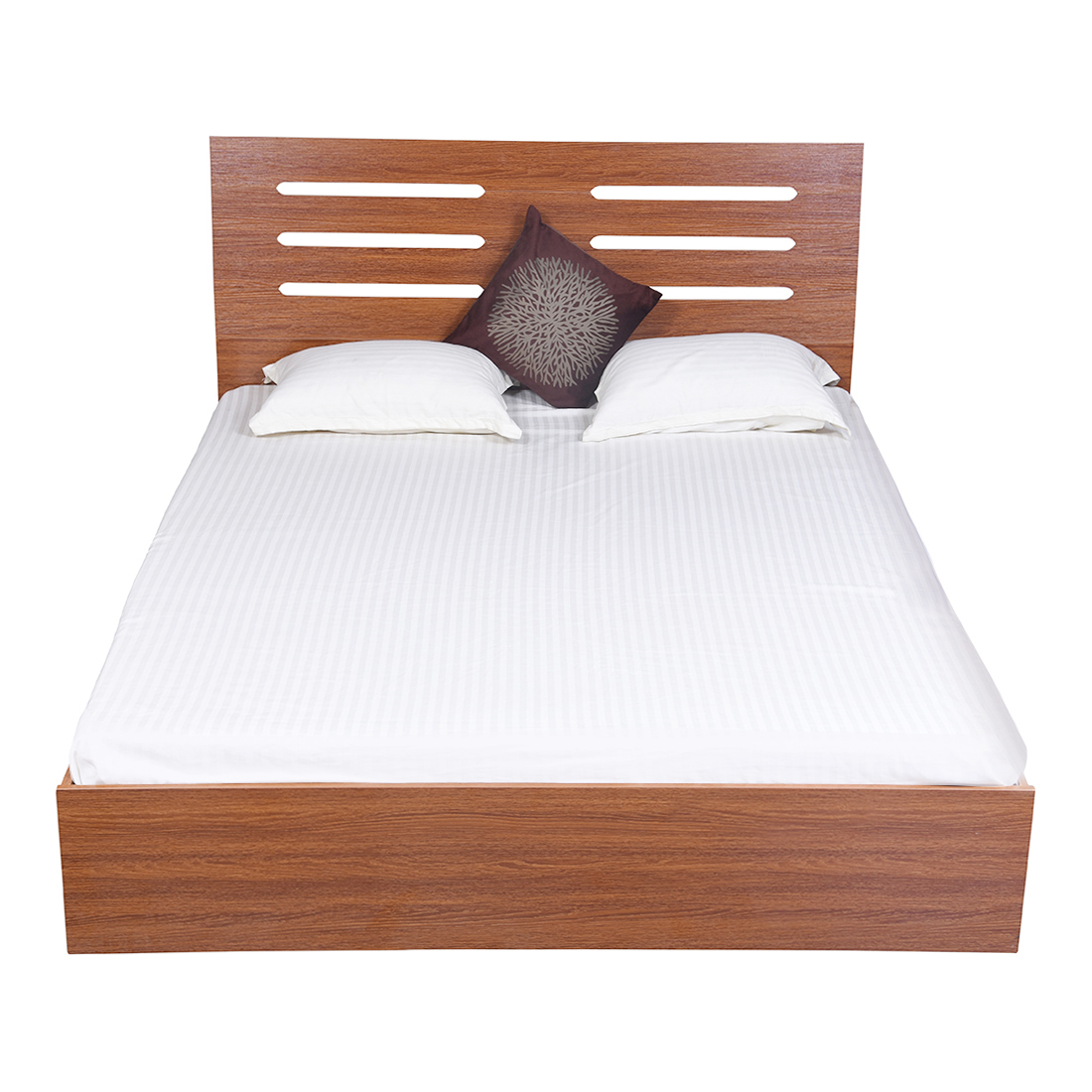 Bharat lifestyle vienna engineered wood queen bed finish color brown online price in india buyb