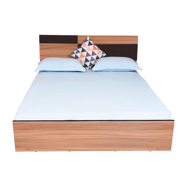 Bharat Lifestyle Rome Exotic Teak Engineered Wood Queen Box Bed (Finish Color - Exotic Teak)