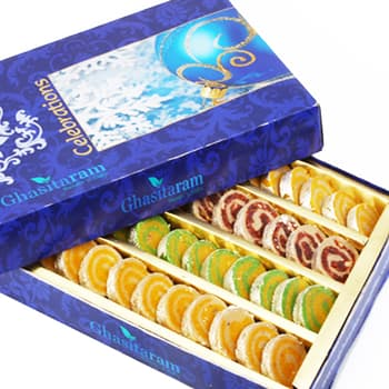 Sweets, Sweets and Gifts, Ghasitaram, Pure Kaju Pista Moons (1000 gms) ,  ,