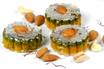 Sweets, Sweets and Gifts, Ghasitaram, Kaju Kesar Pista Flowers(1000gms) ,  ,