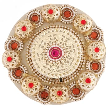 Gifts, Devotional Gifts, Ghasitaram, Floating Light with 400 gms Kaju Katli ,