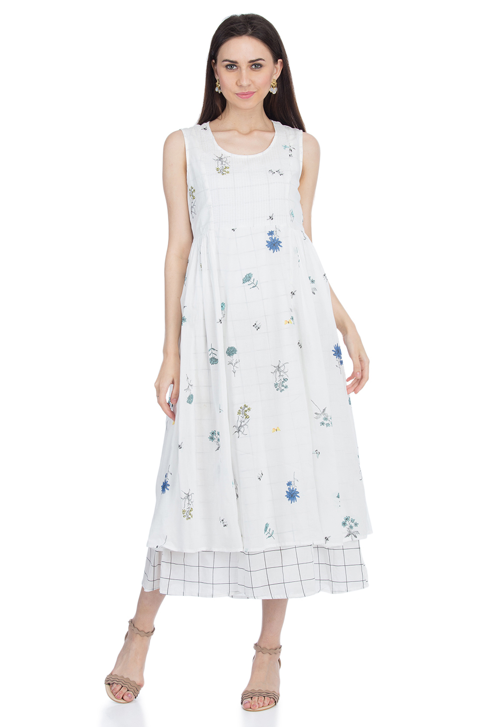 1528311e586df Buy Online White A Line Cotton Dress for Women & Girls at Best Prices in  Biba India-DRESSES14896SS1