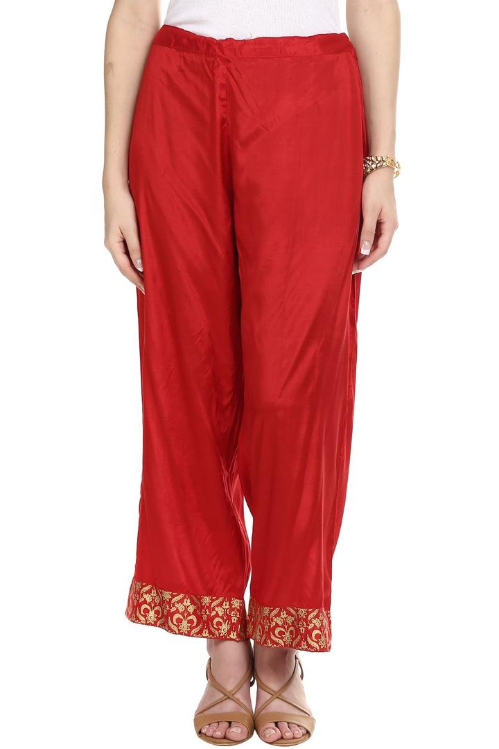 Red Viscose Palazzo - PLUME13168AW17RED