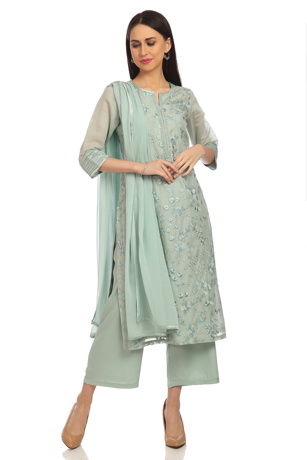 900ae71106 Buy Online Sea Green Straight Poly Cotton Suit Set for Women & Girls at  Best Prices in Biba India-S