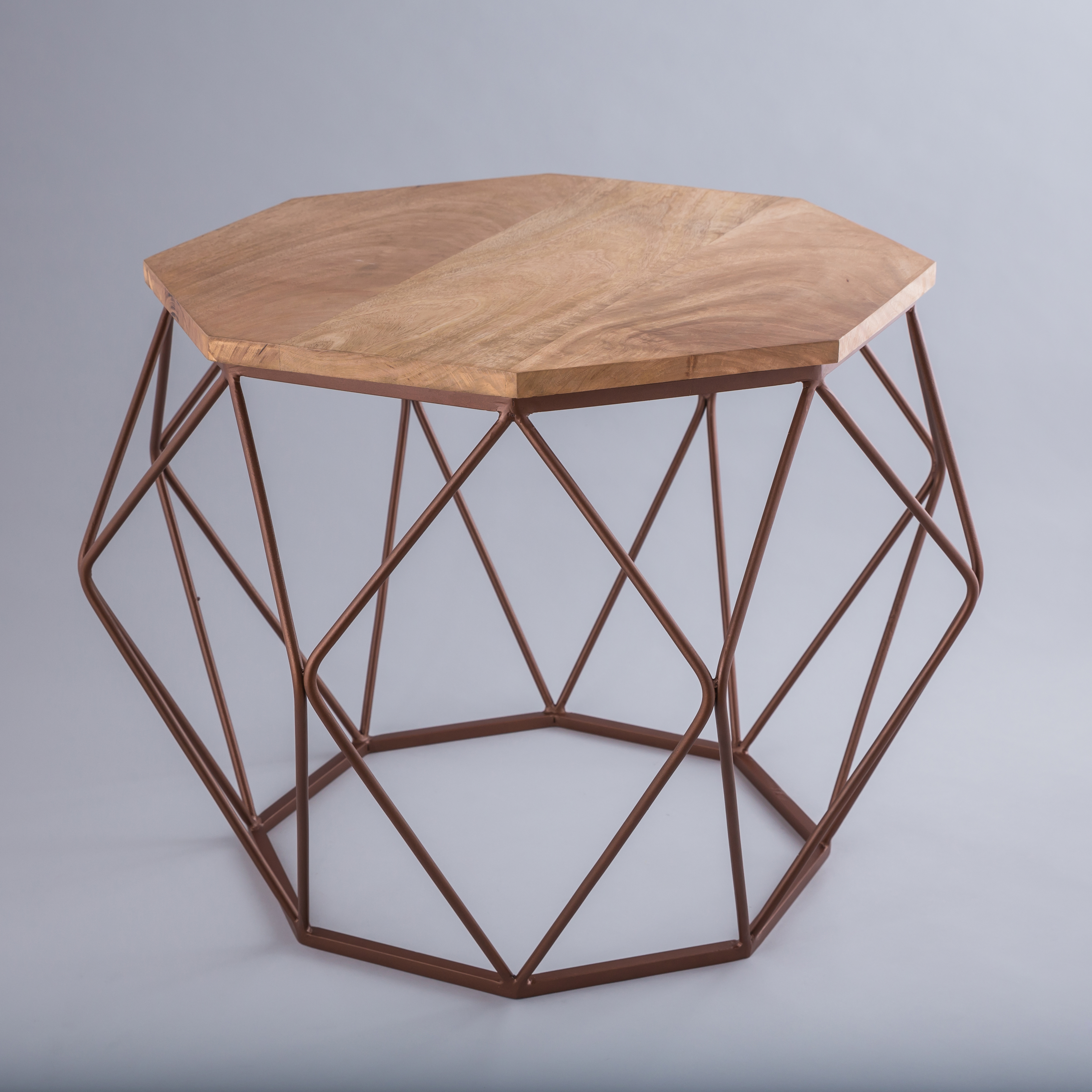 Coffee Tables Wooden Top Octagon Table