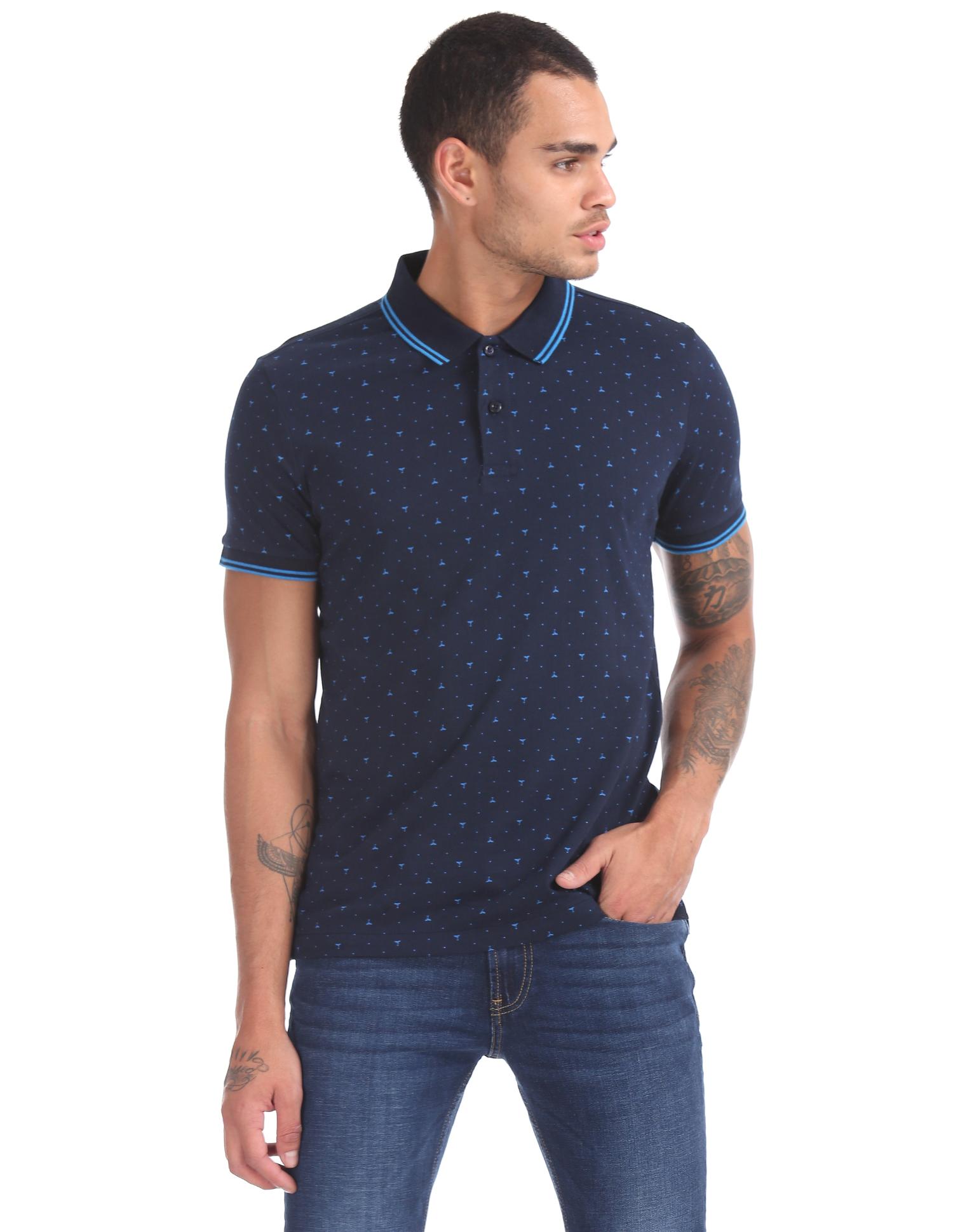 8d691d9b Arrow USA 1851 Men's Polo T-Shirt - Navy