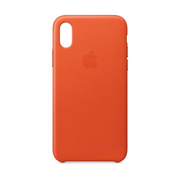 newest 69808 f06af iPhone Accessories, iPhone X Leather Case - Bright Orange