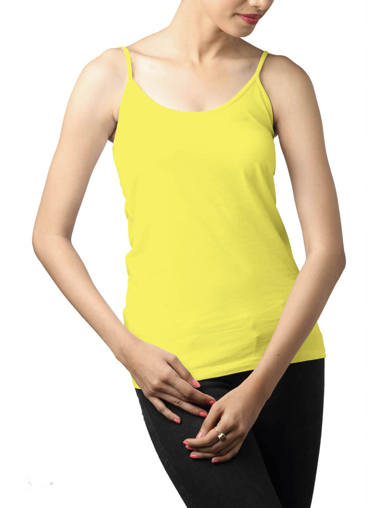 Buy Lemon Yellow Spaghetti Top at Best Price Online in India