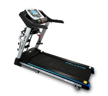 Home Use, Treadmill, Welcare, WC2525M Motorized Treadmill , 4.5″ LCD window with Blue Backlight , 128 x 42 cm , AB Crunch,AB Massager,Waist Twister, , 3 Level Manual , runs at 14 kmph , 128 x 42 cm , 183.6 x 71.5 x 126.5 cm , 4 HP DC PEAK , 12 preset programs + 3 user define. , You can watch your Distance covered, speed, calorie burn, heart rate, and time. It feels good to know you're getting stronger each day. 4.5″ LCD window with Blue Backlight.