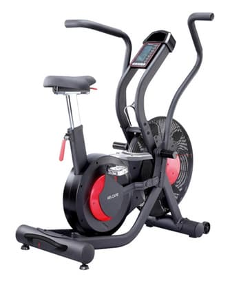 Commercial Use, Cycles, Welcare, AB 01 AIR BIKE , Speed, Time, Distance, Calories, Watt, Pulse, RPM, Program,Target Program:4  Interval Training Program :3  H.R.C Program: 3 T.H.R Program :V                  , Telemetry Heart Rate Receiver:V  Axle / Crank Type            Three Piece Type  Net Weight         78.6kg  Product Size       123x70x134cm