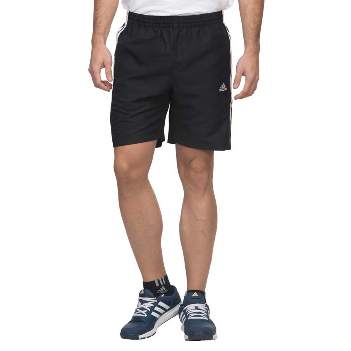 Adidas Mens Training 3 Stripes Chelsea Short (Black)