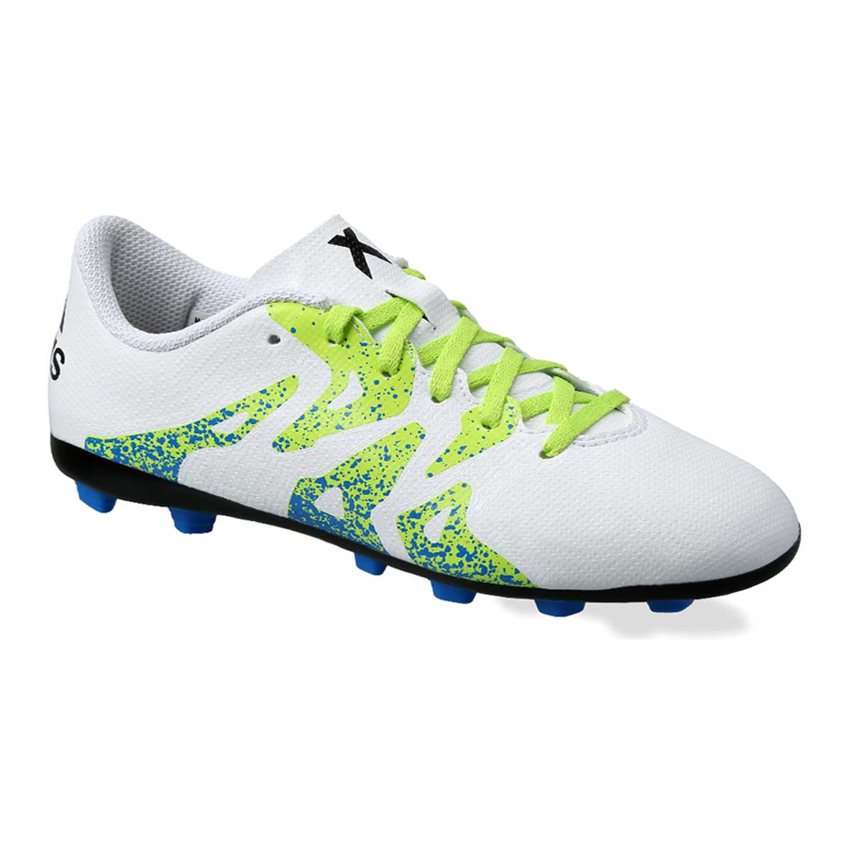 Buy Adidas X 15.4 FXG Football Shoes (White Green Black) Online 55cde0380