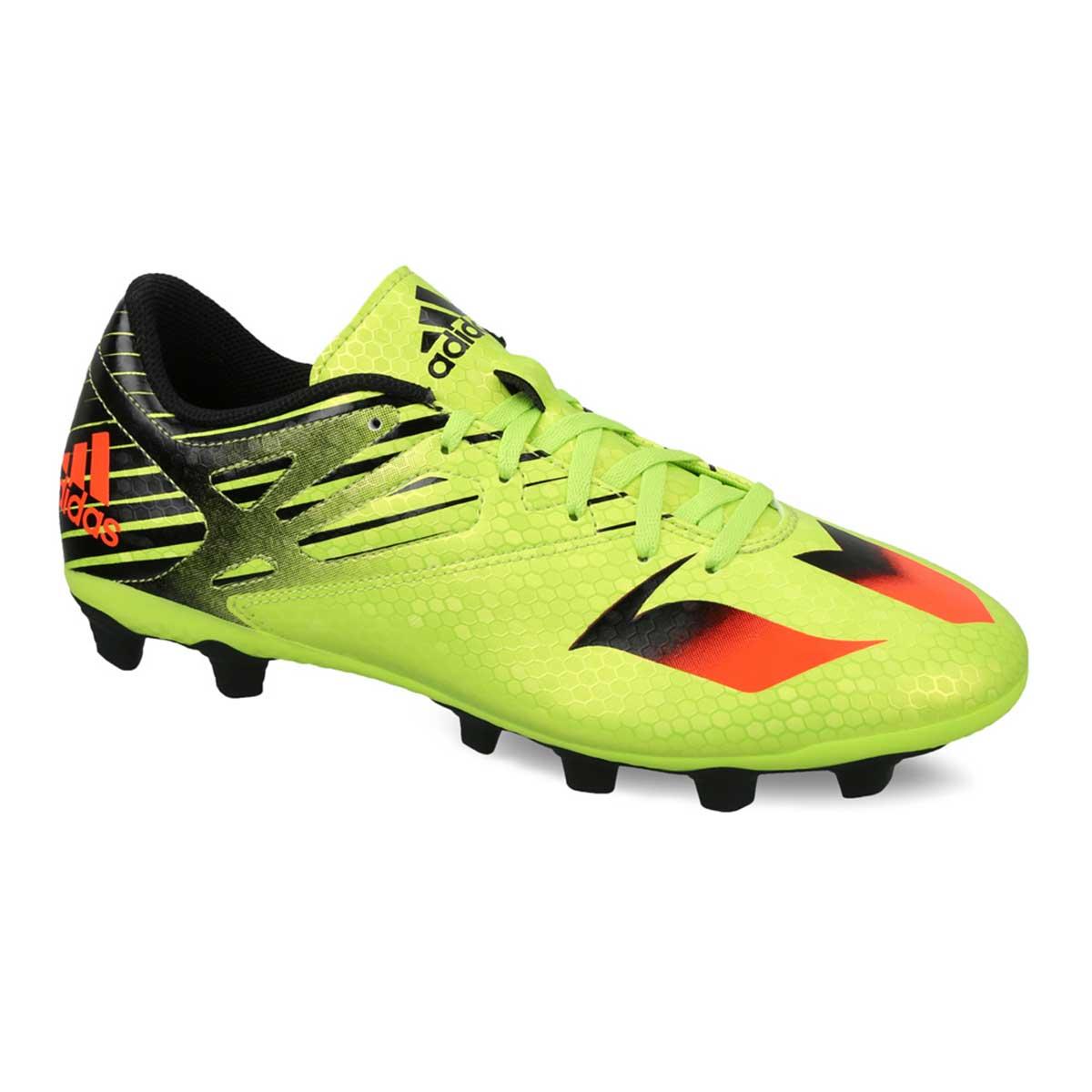 Adidas Messi 15.4 FXG Football Shoes (GreenRedBlack)