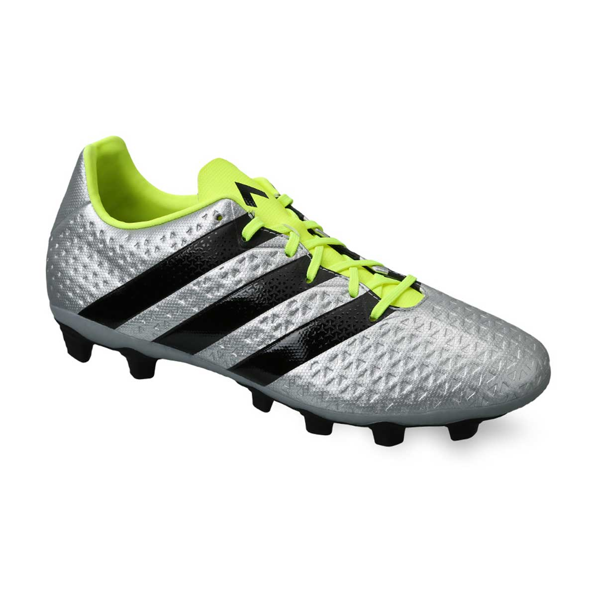 huge discount c392b a04e6 Adidas ACE 16.4 FXG Football Shoes (Silver/Black/Yellow)