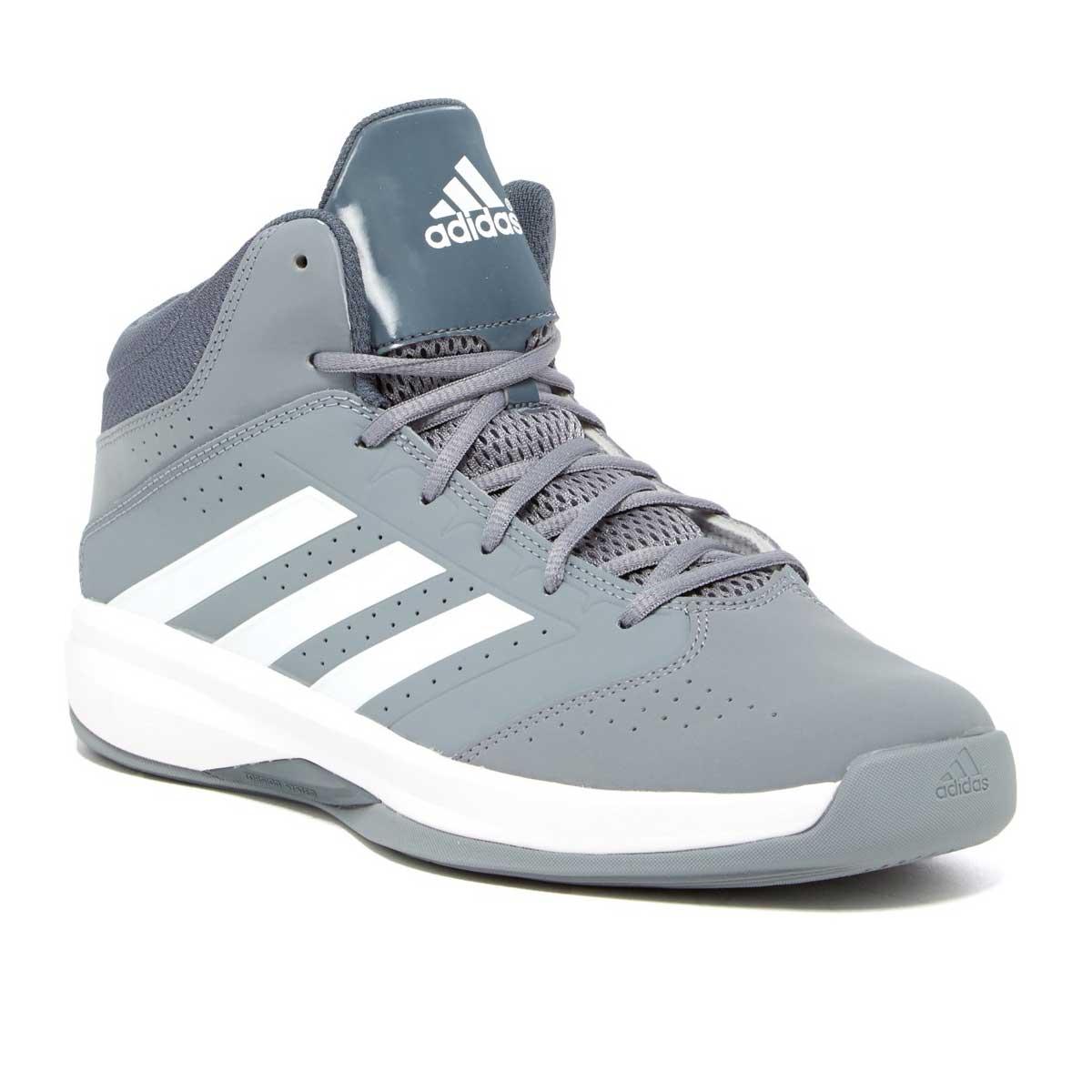 Adidas Isolation 2 Basketball Shoes (Grey/White)