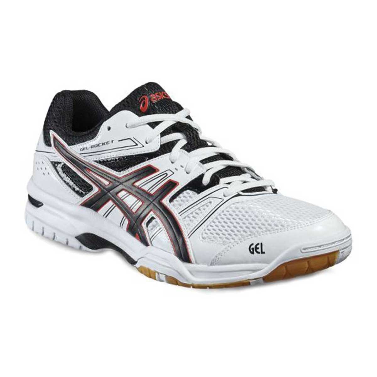 f8aa09d752ac Buy Asics Gel Rocket 7 Indoor Court Shoes (White Black) Online