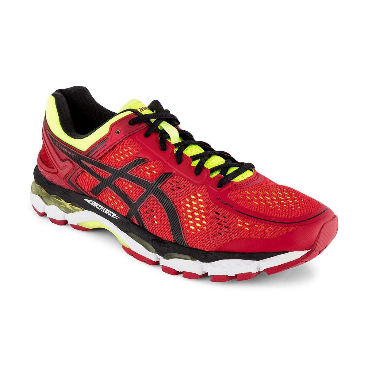 timeless design best wholesaler amazing selection Asics Gel-Kayano 22 Running Shoes (Red Pepper/Black/Flash Yellow)