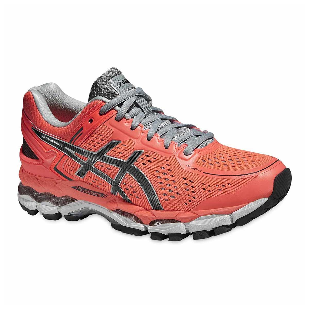size 40 07bce a07b1 Asics Gel-Kayano 22 Women's Running Shoes (Flash Coral/Carbon/Silver Grey)
