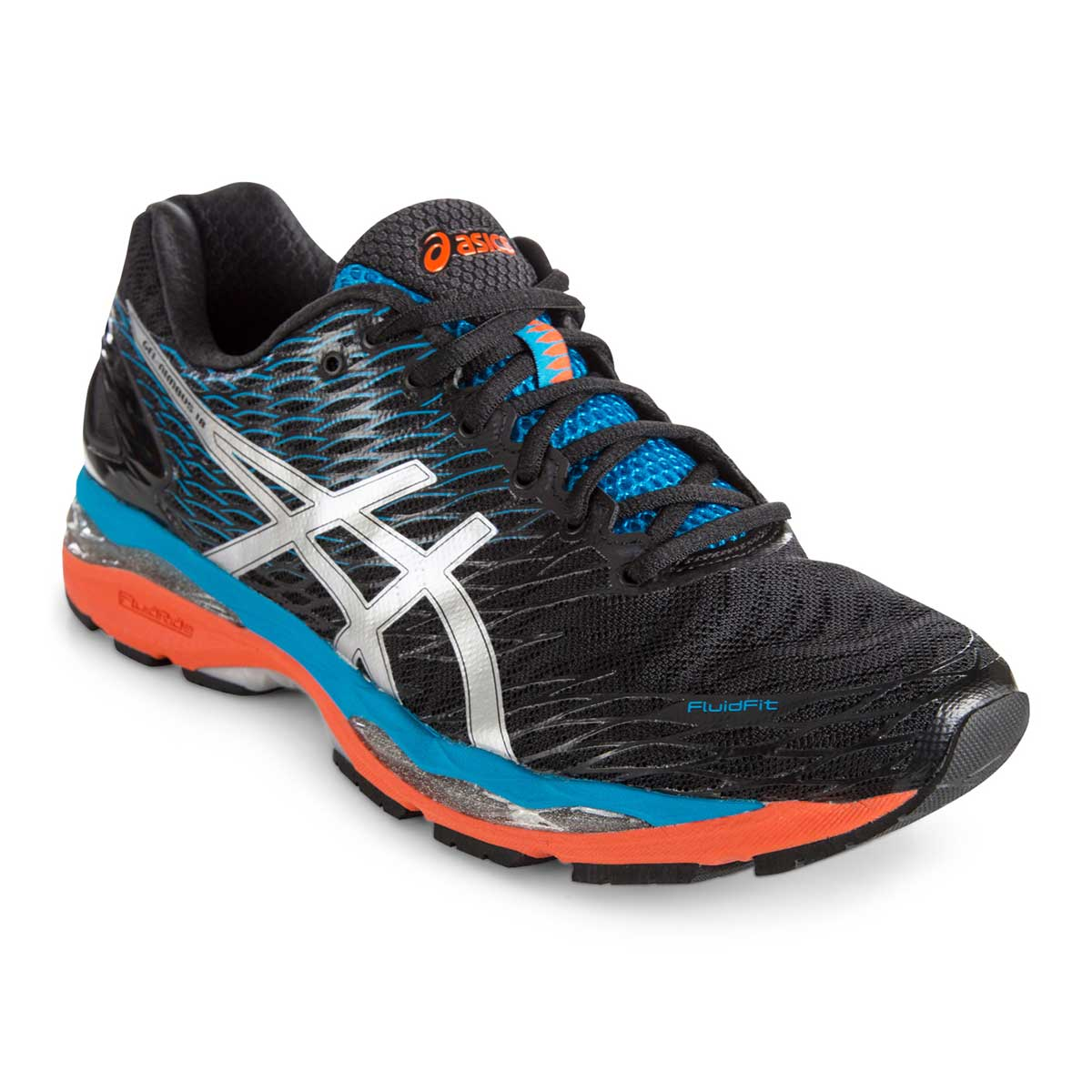 978cfa9d14b198 Buy Asics Gel-Nimbus 18 Running Shoes (Onyx/Silver/Blue Jewel) Online