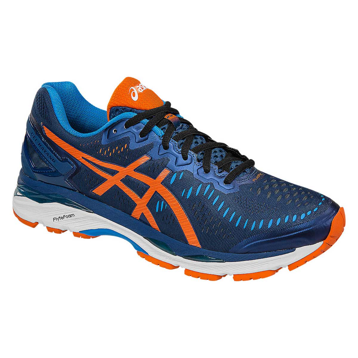 best authentic 9981d 19aff Asics Gel-Kayano 23 Running Shoes (Poseidon/Orange/Blue Jewel)