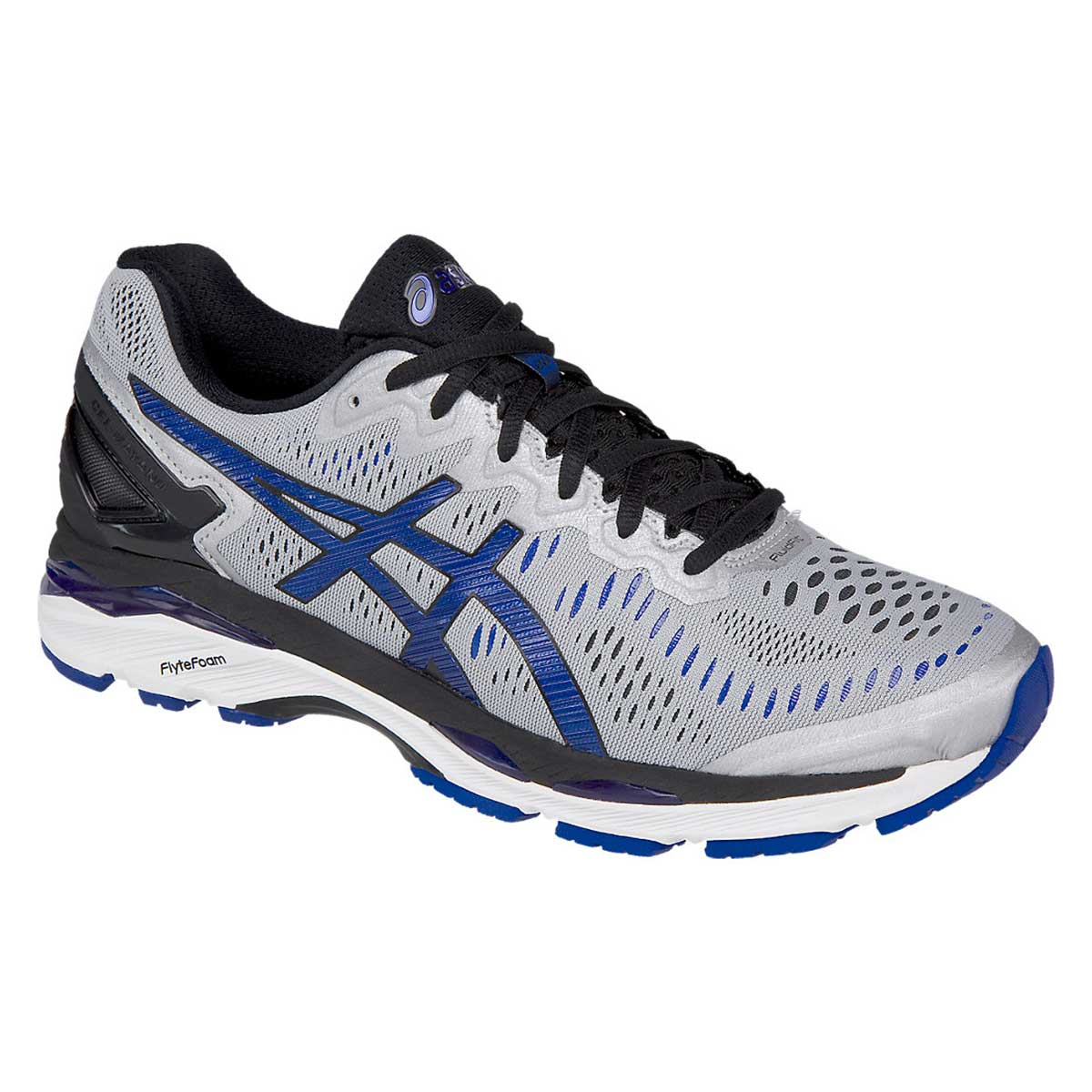pretty nice 88b95 de3f4 Asics Gel-Kayano 23 (2E) Running Shoes (Silver/Imperial/Black)