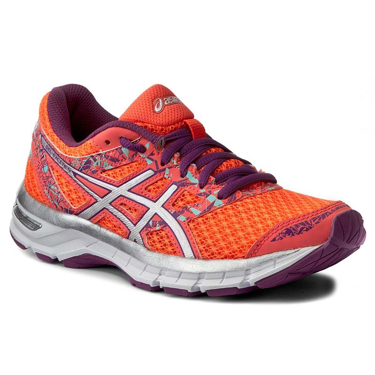 b6b63c47d1de1 Buy Asics Gel-Excite 4 Running Shoes (Coral/Silver/Orchid) Online